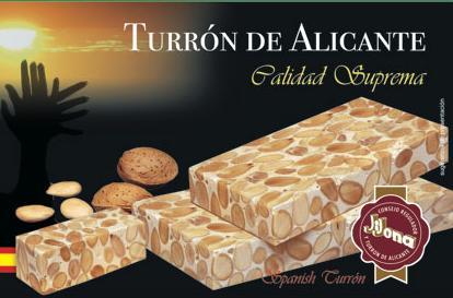Jijona es la empresa más antigua en fabricar el turrón de Alicante.